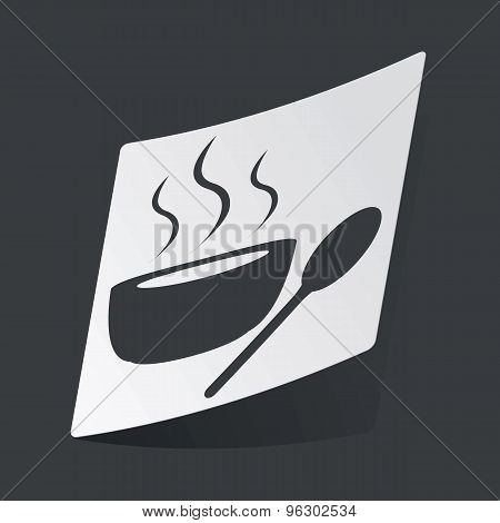 Monochrome hot soup sticker