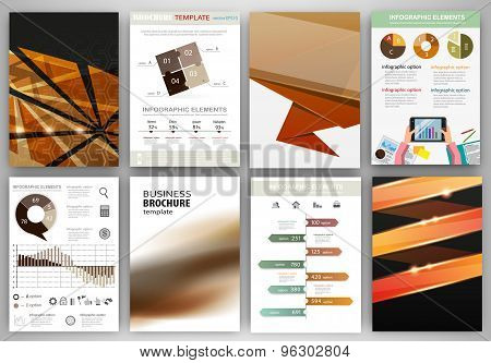 Brown And Black Business Backgrounds And Abstract Concept Infographics
