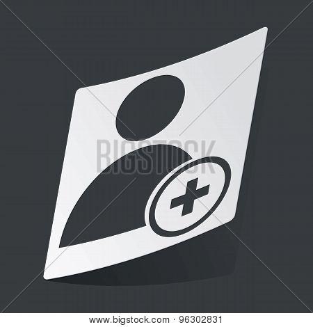 Monochrome add user sticker