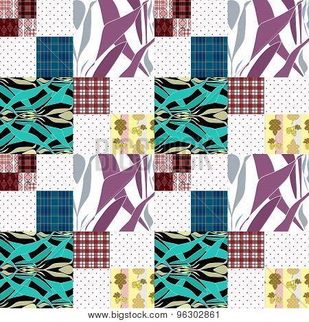 Patchwork Seamless Pattern Ornamental Design Background