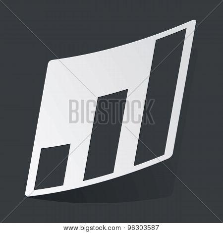 Monochrome volume scale sticker