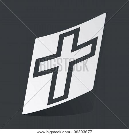 Monochrome christian cross sticker