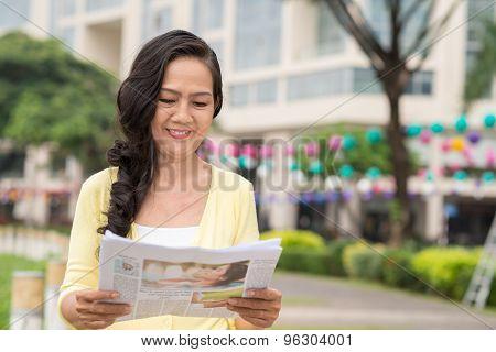 Reading Fresh Newspaper