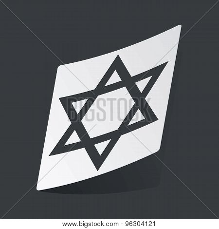 Monochrome Star of David sticker