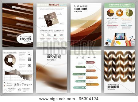 Brown Creative Backgrounds And Abstract Concept Infographics