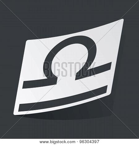 Monochrome Libra sticker