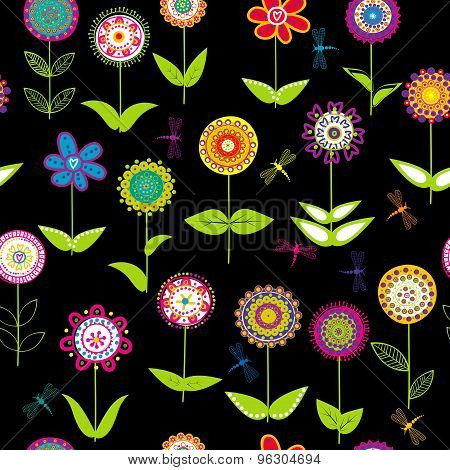 Whimsical Flowers Background