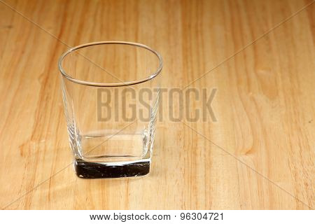 Empty Glass Drink On Wood