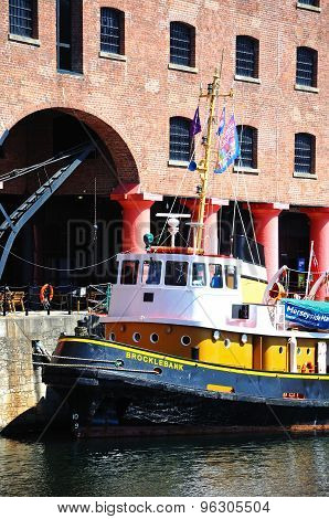 Tug boat in Albert Dock, Liverpool.