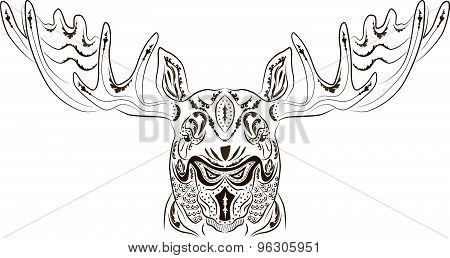Pattern tattoo moose