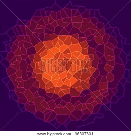 abstract random crystal background design vector