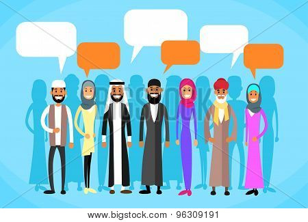 Muslim People Group Talking Discussing Chat Communication Social Network