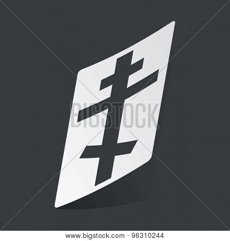 Monochrome orthodox cross sticker