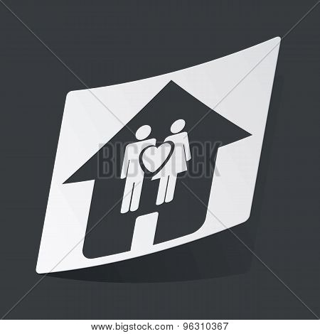 Monochrome family sticker