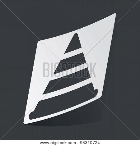Monochrome traffic cone sticker
