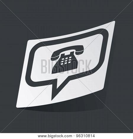 Monochrome phone message sticker