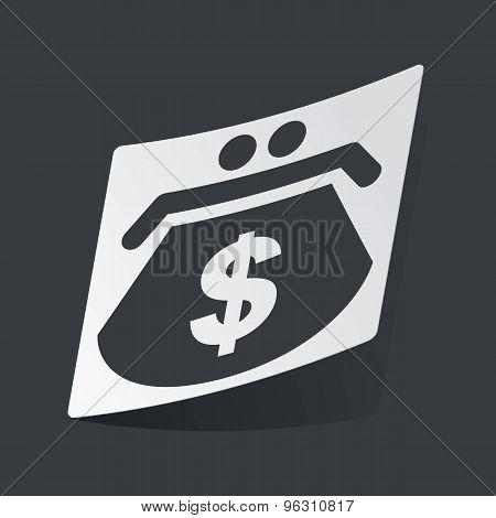 Monochrome dollar purse sticker