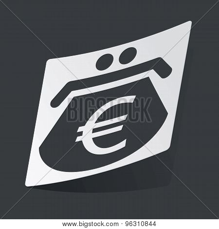 Monochrome euro purse sticker