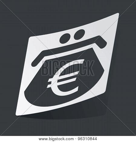Monochrome euro purse sticker