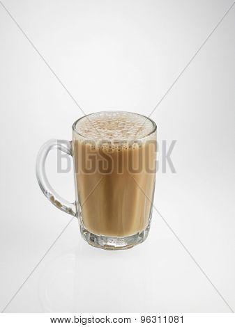 Tea with milk or Teh Tarik in Malaysia