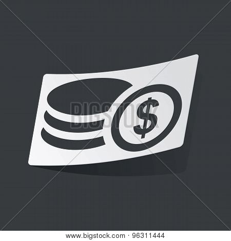 Monochrome dollar rouleau sticker