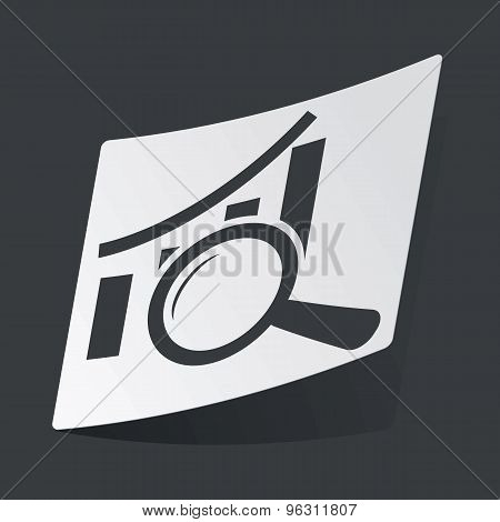 Monochrome graphic examination sticker