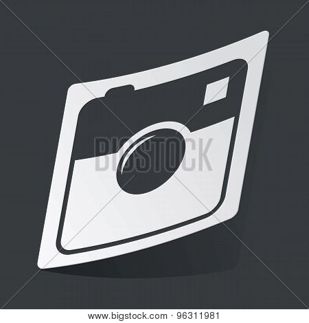 Monochrome square camera sticker