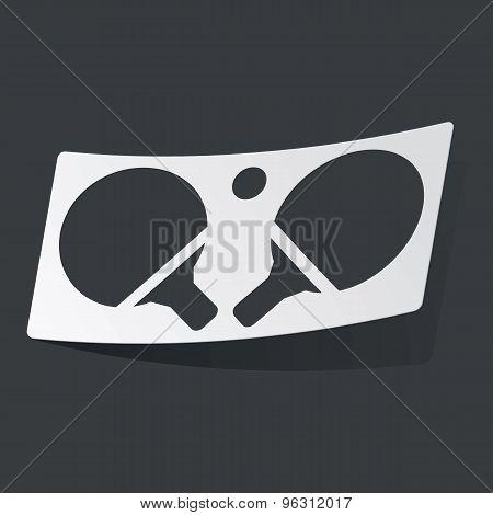 Monochrome table tennis sticker