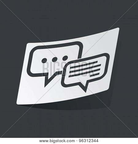 Monochrome answering sticker