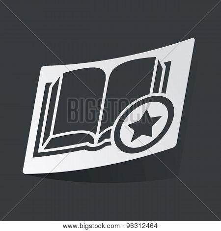 Monochrome favorite book sticker