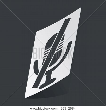 Monochrome muted microphone sticker