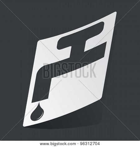 Monochrome water tap sticker