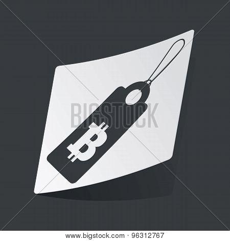 Monochrome bitcoin price sticker