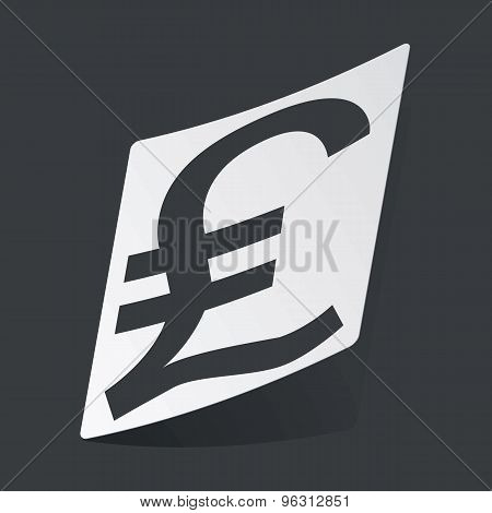 Monochrome pound sterling sticker