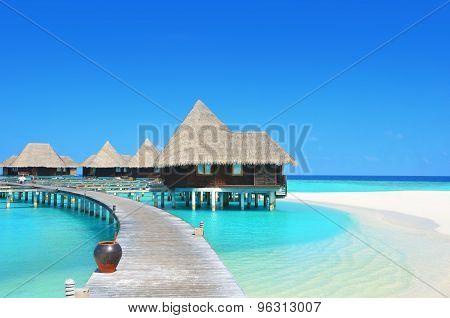 Water villas in the Paradise lagoon