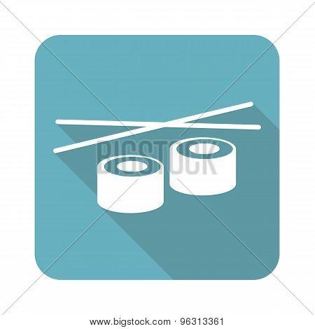 Square sushi icon