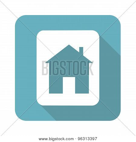 Square house sign icon