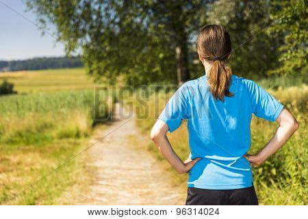 Jogger Outdoors In Summer
