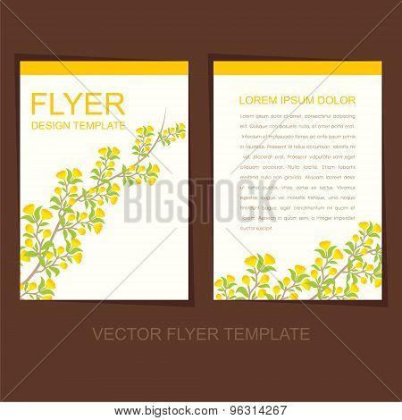natural flyer or leaflet design