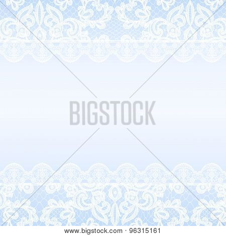 lace border on blue background