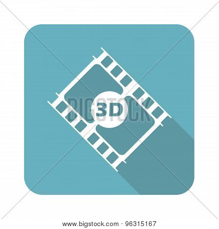 Square 3D movie icon