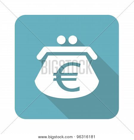 Square euro purse icon