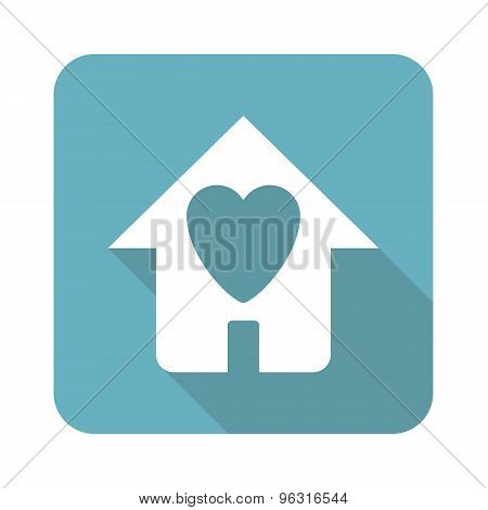 Square beloved house icon