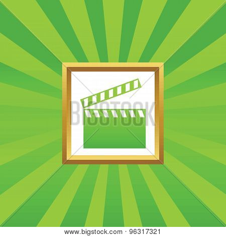 Clapperboard picture icon
