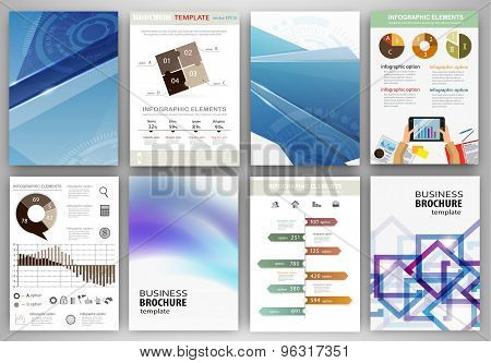 Blue Technology Backgrounds And Concept Infographics