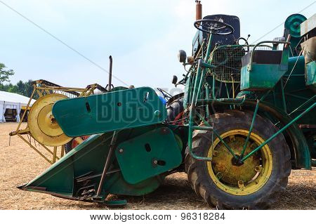 Old Grain Thresher