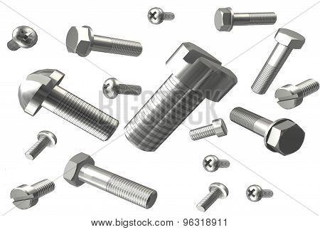 metal fasteners 3D