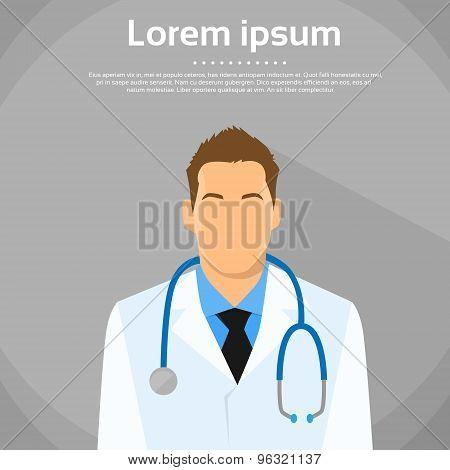 Medical Doctor Profile Icon Male Portrait Flat Design