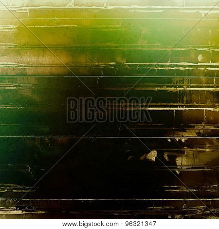 Art grunge vintage textured background. With different color patterns: yellow (beige); brown; green; black