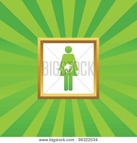 Pregnant woman picture icon